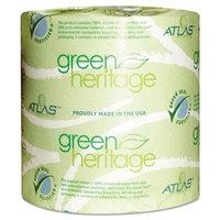Atlas Paper Mills Green Heritage Bathroom Tissue, 2-Ply, 500 Sheets/Roll, 96 Rolls/Carton