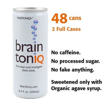 True Toniqs Brain Toniq - the non-caffeinated Think Drink - 48 cans