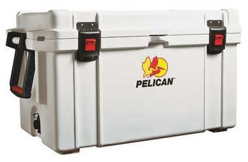 PELICAN 65Q-MC Full Size Chest Cooler,65 qt, White