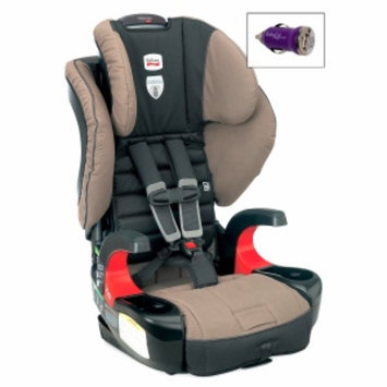 Britax Frontier 90 Booster Car Seat and FREE Mini Auto USB Adapter, Desert Palm, 1 ea
