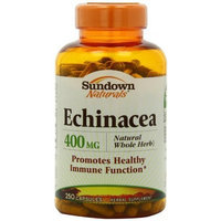 Sundown Naturals Echinacea Whole Herb 400mg Capsules, 250-Count Bottle (Pack of 2)