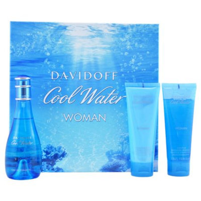 Davidoff Cool Water Gift Set for Women, 3 Piece, 1 set