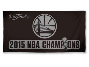 Wincraft Golden State Warriors 2015 NBA Finals Champions Black Official Beach Towel