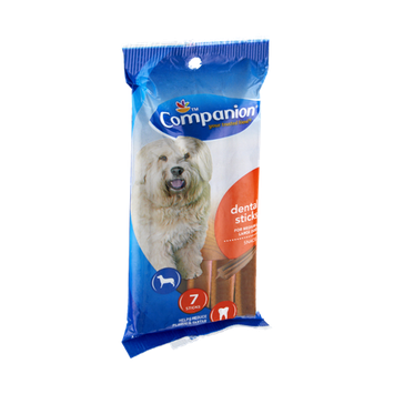 Companion Dental Sticks Medium & Large Dog Snacks - 7 CT