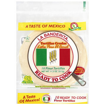 La Banderita Flour Tortillas, 10ct