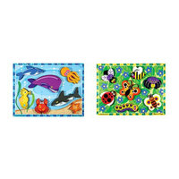 Melissa & Doug Sea Life and Insects Wooden Chunky Puzzle Bundle