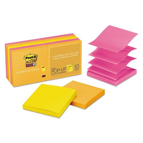 3M Self-Stick Notes and Dispensers ULettera Colors Super Sticky Pop