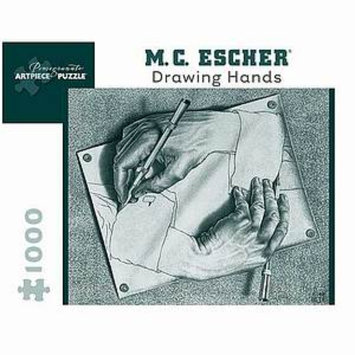 MC Escher Drawing Hands Puzzle 1000 pcs  Ages 12 and up
