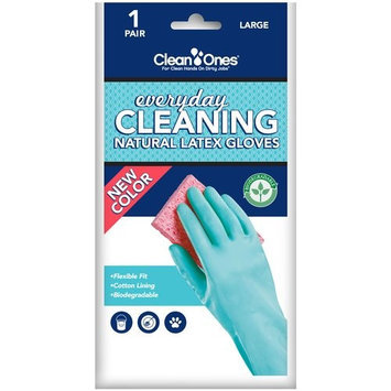 Clean Ones Natural Latex Gloves, Large