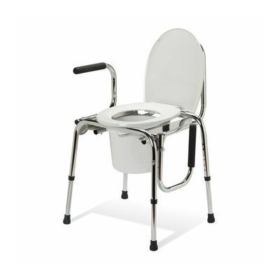 Medline Non-Padded Drop Arm Commode
