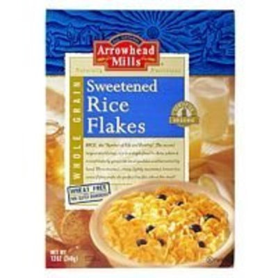 Arrowhead Mills Rice Flakes Sweetened Cereal ( 12 x 12 OZ)