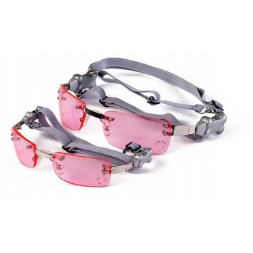 Doggles XX-Small K9 Optix Sunglasses for Dogs, Silver Frame, Pink Lens