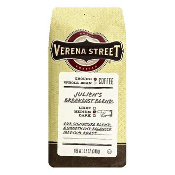 Verena Street 12 oz. Juliens Breakfast Blend Medium Ground Coffee Case Of 6