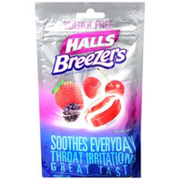 HALLS Breezers Lozenges Sugar Free Cool Berry