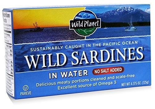 Wild Friends WILD SARDINES IN WATER NS, (Pack of 12)
