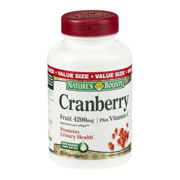 Nature's Bounty Cranberry 4200mg Plus Vitamin C Herbal Supplement Softgels - 250 CT