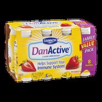 Dannon DanActive Strawberry Probiotic Dairy Drink - 8 CT