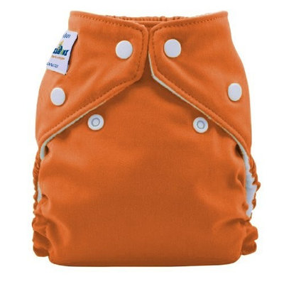 FuzziBunz Perfect Size Cloth Diaper, Kumquat, Small 7-18 lbs