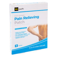 DG Health Extra Strength Pain Relieving Patch, 6 ct