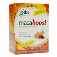 Gaia Herbs macaboost Plant-Based Performance Enhancer Packets, Cacao-Ginger, 14 ea