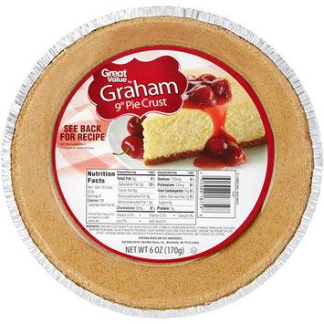 Great Value Graham Cracker Pie Crust, 6 oz