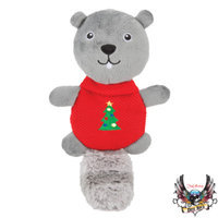 Bret Michaels Pets RockTM Squirrel Flattie Dog Toy
