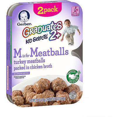 Gerber® Graduates Kid Selects, M is for Meatballs Turkey Meatballs