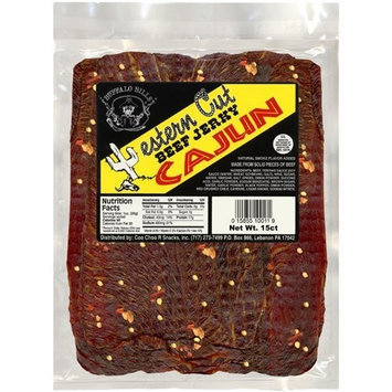 Buffalo Bills Premium Snacks Buffalo Bills 18oz Cajun Western Cut Big Slab Beef Jerky (15 beef jerky slabs per bag)