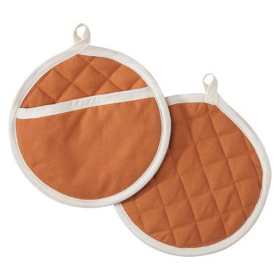 Threshold Pot Holder Set of 2 - Country Coral