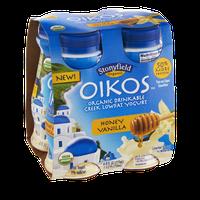 Stonyfield Organic Oikos Honey Vanilla Organic Drinkable Greek Lowfat Yogurt - 4 PK