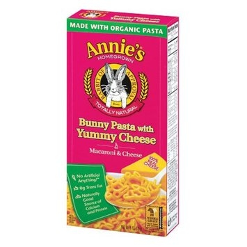 Annie's Homegrown Totally Natural Bunny Pasta with Yummy Cheese