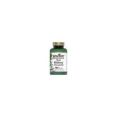 Swanson Premium Raw Kidney Glandular 500 mg 60 Caps