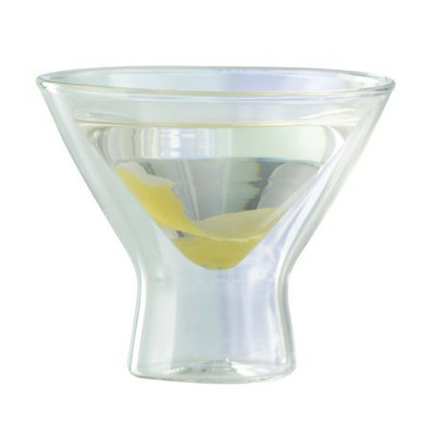 The Wine Enthusiast Steady Temp Martini Glass Set of 2 - 8oz.