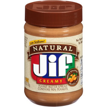 Jif Natural Creamy Peanut Butter Spread, 28 oz, 5 pk
