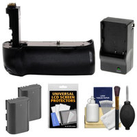 Zeikos BG-E11 Battery Grip for Canon EOS 5D Mark III Digital SLR Camera with (2) LP-E6 Batteries + Charger + Cleaning & Accessory Kit