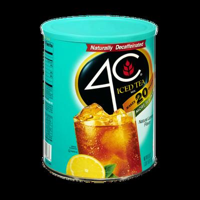 4C Natural Lemon Flavor Decaffeinated Iced Tea Drink Mix