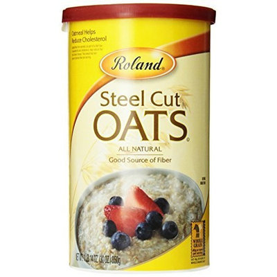 Roland Steel Cut Oats, 30-Ounce Canisters (Pack of 4)