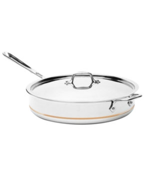 All Clad ALL CLAD 6 Quart Saute Pan With Lid Copper Core
