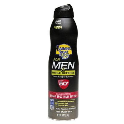Banana Boat For Men Triple Defense UltraMist Clear Spray Sunscreen With SPF 50