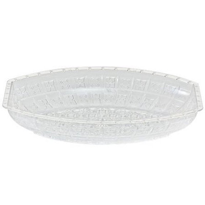 Party Dimensions 60252 7 in. x 10 in. Oval Crystal Cut Bowl - 24 Per Case