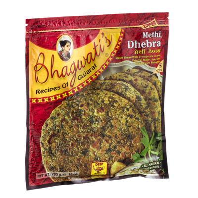 Deep Bhahwati's Methi Dhebra Millet Bread With Fenugreek Leaves - 5 CT