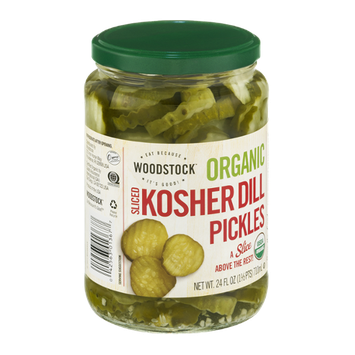 Woodstock Organic Kosher Dill Pickles Sliced