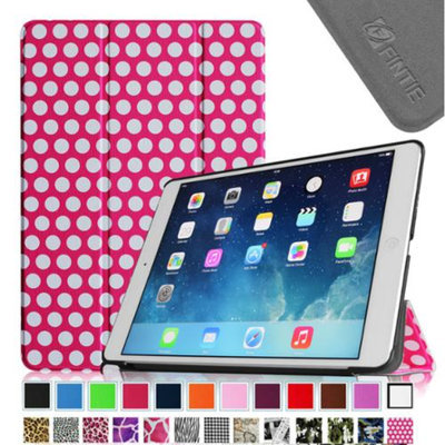 Fintie Smart Shell Leather Case Cover for Apple iPad Air (iPad 5 5th Generation), Polka Dot