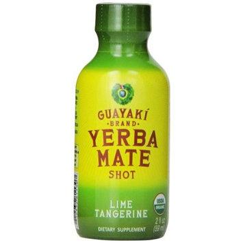 Guayaki Yerba mate organic energy shot Lime Tangerine 2 OZ, 12 per case.