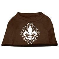 Ahi Henna Fleur de Lis Screen Print Shirt Brown Lg (14)