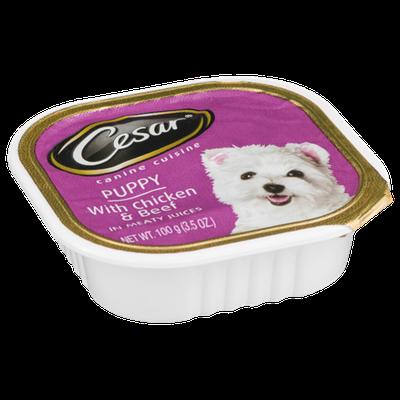 Cesar Puppy Chicken & Beef Canine Cuisine
