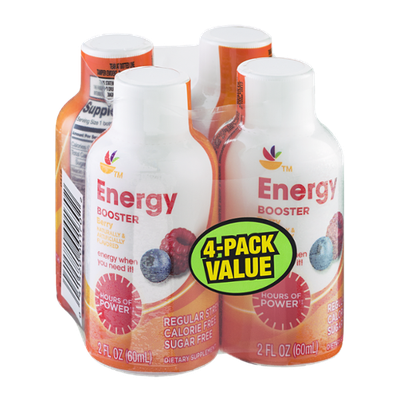 Ahold Energy Booster Berry - 4 CT