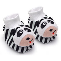 Genius Babies Pair of Panda Baby Booties Foot Rattles