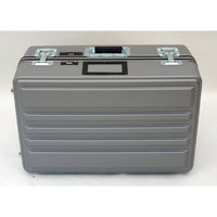 Platt Heavy-Duty Polyethylene Case with Wheels and Telescoping Handle in Gray: 15 x 23 x 10
