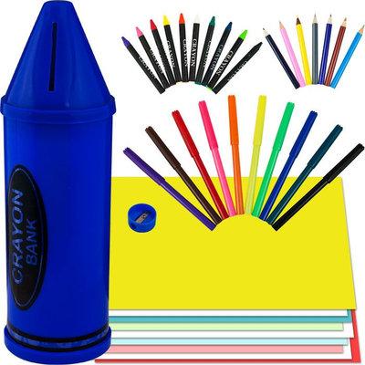 Trademark Games Crayon Bank and Art Set